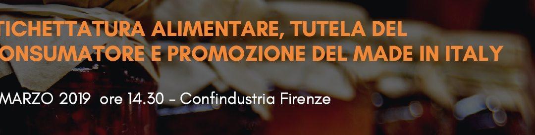 • Industria di trasformazione e origine dei prodotti alimentari