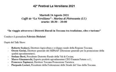 • Al Caffè de La Versiliana per parlare di PAT (martedì 24 agosto 2021 alle 18.30)